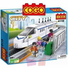 Tren Bala juego de construcción Cogo Blocks 558 piezas