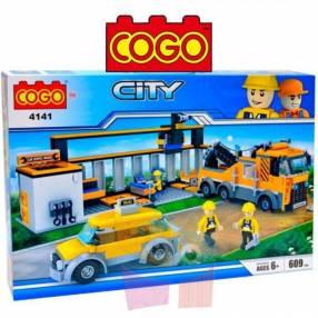 Estación de auxilio juego de construcción Cogo Blocks 609 piezas
