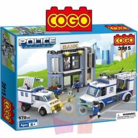 Set de Policías y Ladrones juego de construcción Cogo Blocks 570 piezas