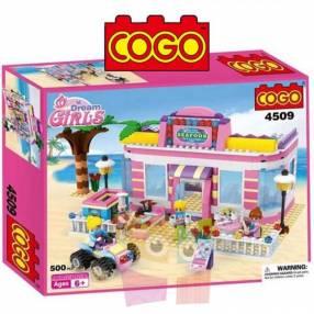 Restaurant Sea Food juego de construcción Cogo Blocks 500 piezas