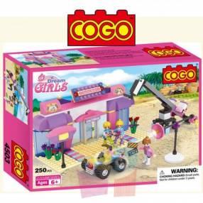 Set de grabación juego de construcción Cogo Blocks 250 piezas