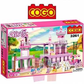 Castillo de princesa juego de construcción Cogo Blocks 605 piezas
