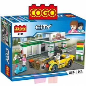 Estación de servicio juego de construcción Cogo Blocks 335 piezas