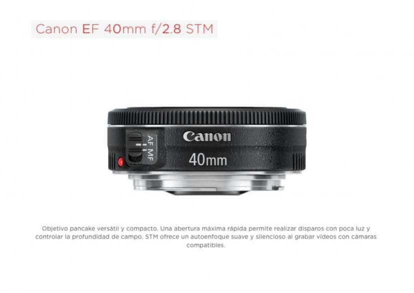 Lente Canon EF 40mm F/2.8 STM Pancake - 0