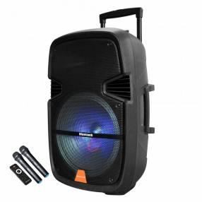 Parlante karaoke a bateria 15″ mega star spa157