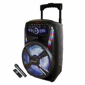 Parlante karaoke a bateria 12″ mega star spa129