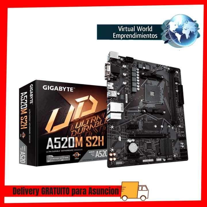 Placa madre Gigabyte AM4 A520M S2H V/S/R/HDMI/DVI/M2/DD4/USB - 0