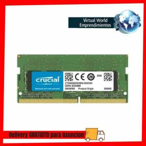 Memoria ram p/NB ddr4 Crucial 16gb 2400Mhz CT16G4SFD824A