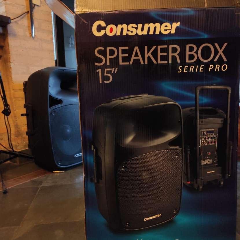 Parlante amplificado Consumer Speaker Box 15 pulgadas - 0