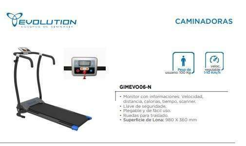 Caminadora Evolution GIMEVOO6-N - 0
