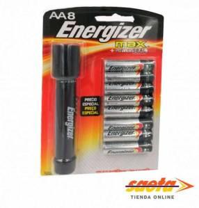 Pila alcalina Energizer E91-BP8 + Linterna XFH21