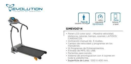 Caminadora Evolution Gimevo07-N - 0