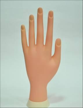 Mano de práctica para uñas esculpidas