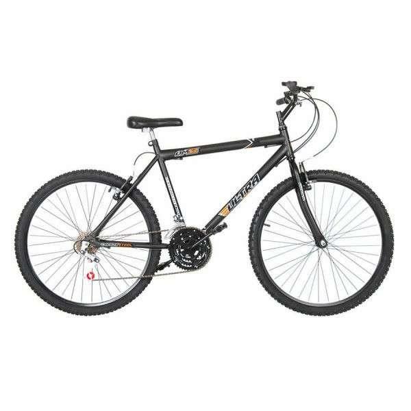 Bicicleta aro 26 masculina ultra bikes negro mate - 0