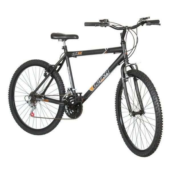 Bicicleta aro 26 masculina ultra bikes negro mate - 1
