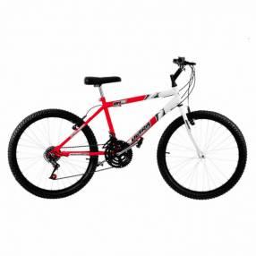 Bicicleta aro 26 bicolor masculina ultra bikes rojo blanco