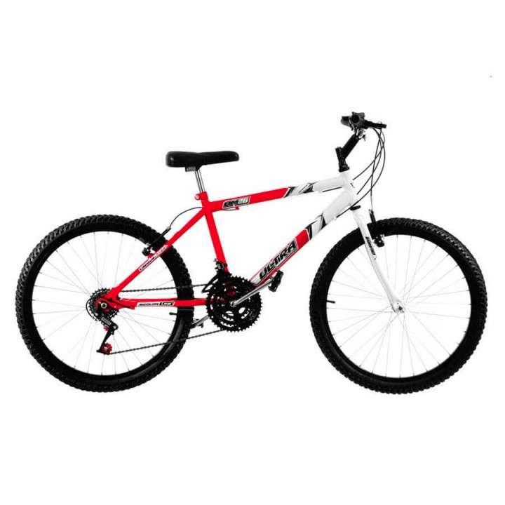 Bicicleta aro 26 bicolor masculina ultra bikes rojo blanco - 0
