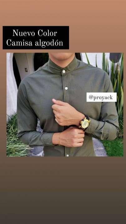 Camisa en algodón premium lujo 2 unidades