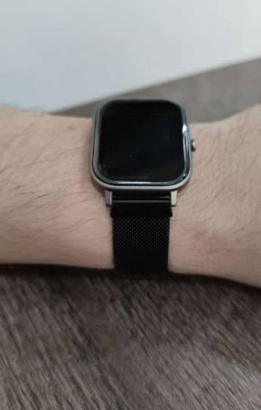 Smartwatch Amazfit GTS pulsera metal negro