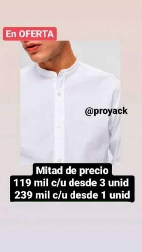 10 camisas en algodón premium lujo