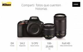 Cámara Nikon D3500 kit lente 18-55