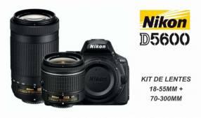 Cámara Nikon D5600 kit 18-55mm + 70-300mm