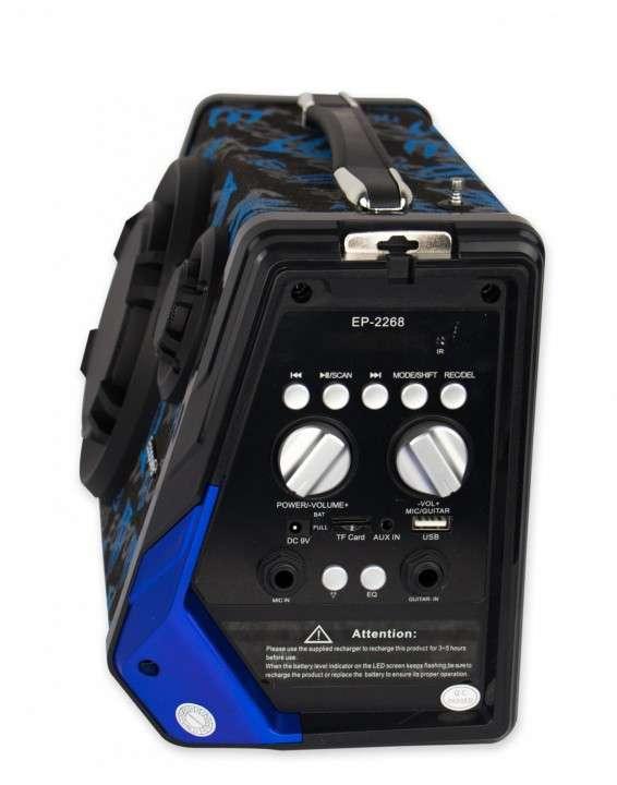 Speaker Ecopower Modelo EP-2268 Color negro, azul y verde - 1