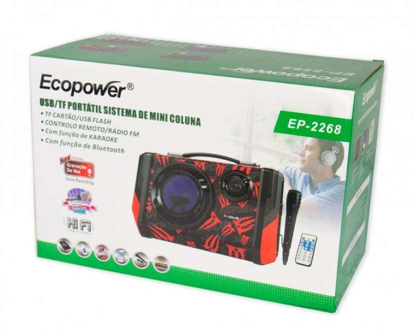 Speaker Ecopower Modelo EP-2268 Color negro, azul y verde - 2