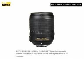Lente Nikon DX 18-140mm F/3.5-5.6G ED VR.
