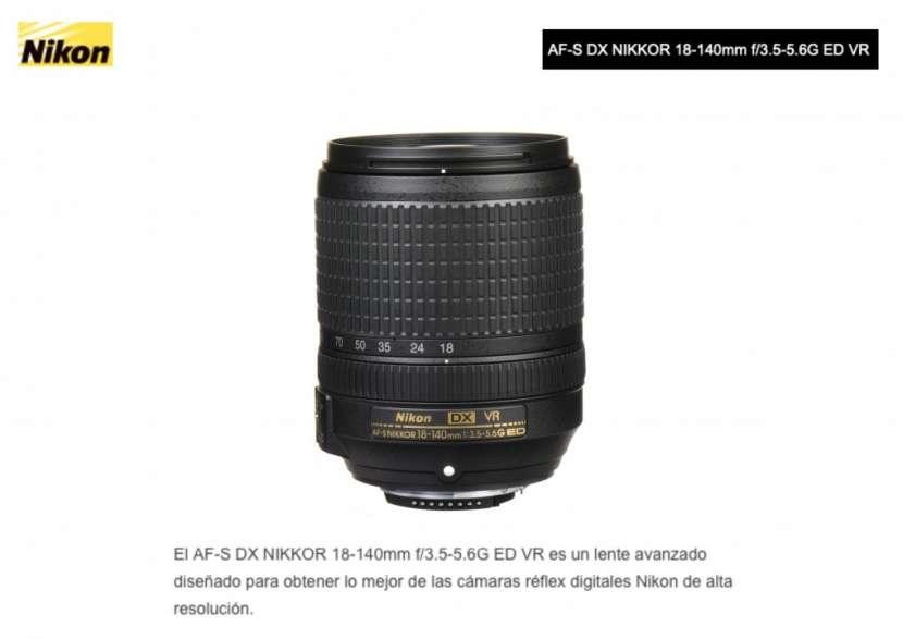Lente Nikon DX 18-140mm F/3.5-5.6G ED VR. - 0