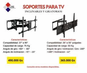 Soportes para tv articulados y giratorios