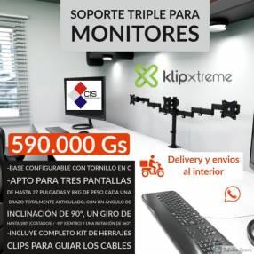 Soporte triple para monitor