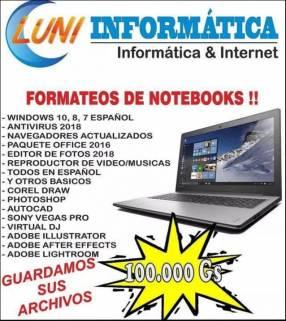 Formateo de notebooks