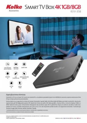 Conversor o convertidor smart tv box 4k kolke (kvv358)