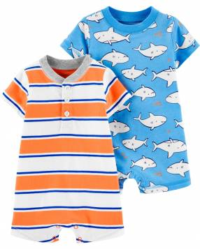 Pack 2 Romper Tiburón Carter's