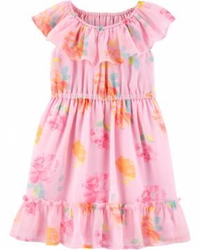 Vestido Floral Ruffle Oshkosh
