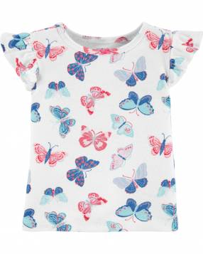 Jardinera & Remera Butterfly Carter's