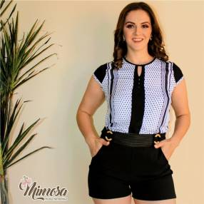 Blusa Blanco Rayas Femenina Mimosa