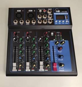 Consola de 4 canales con bluetooth