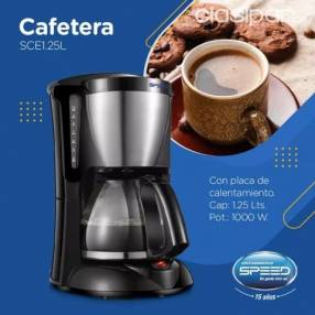 Cafetera Speed 1.25 lts con filtro