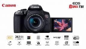 Cámara Canon EOS T8i Kit 18-55mm f/4-5.6 IS STM