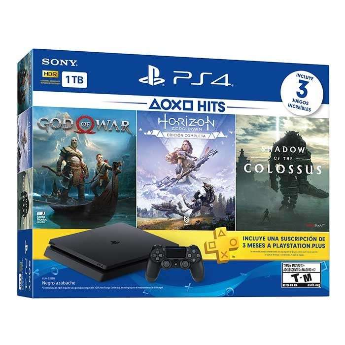 PlayStation 4 Slim 2215B + 3 Juegos - 0