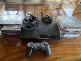 PS3 slim 320 gb con 15 juegos