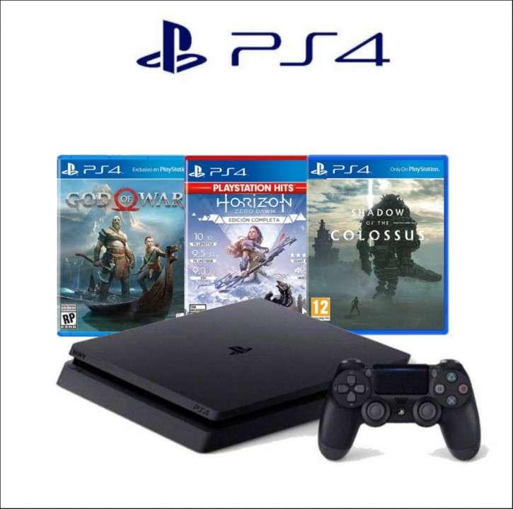 PlayStation 4 Slim 2215B + 3 Juegos - 1