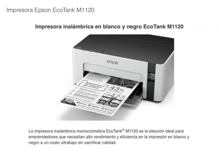 Impresora Epson EcoTank M1120 - 0