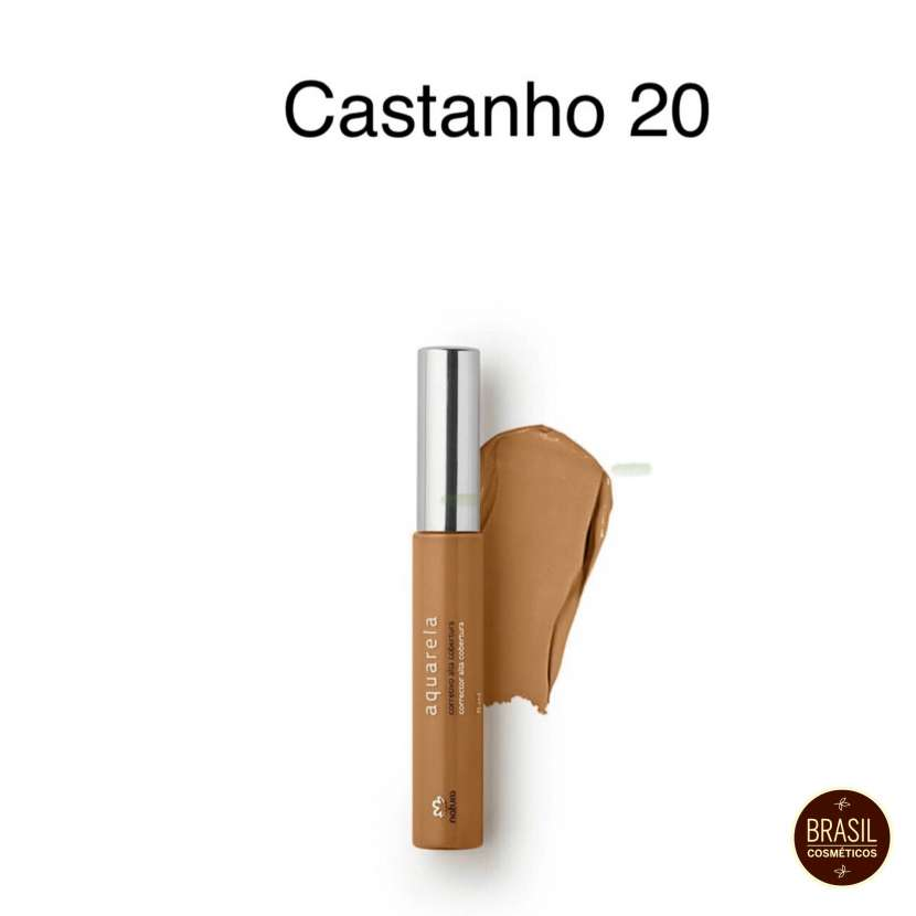 Natura acuarela corrector de alta cobertura Castanho 20 - 0