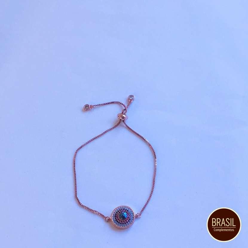 Pulsera acero quirúrgico rose gold colorido - 0
