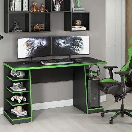 Escritorio mesa gamer NT2020 verde negro Abba - 0