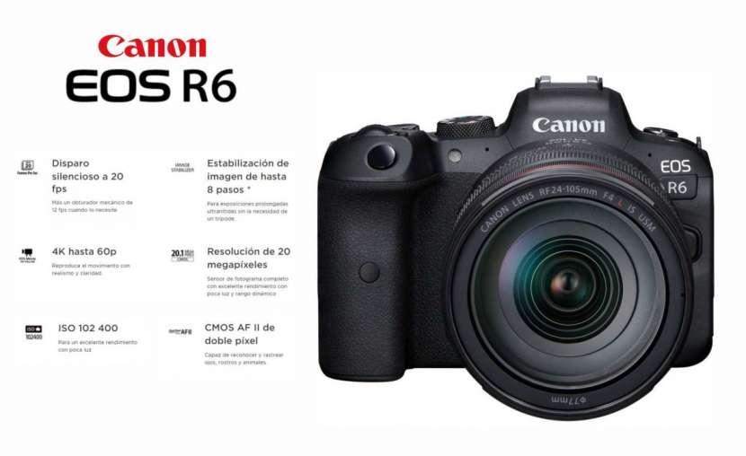 Cámara Canon EOS R6 Kit 24-105mm F/4L IS USM - 0