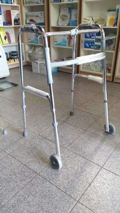 Andador plegable con ruedas y sin ruedas - 0